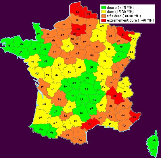 Waterhardheid Frankrijk